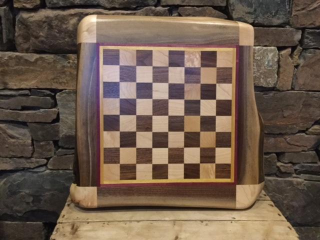 No Walls Studio Live Edge Chess Board