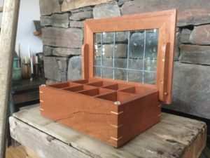 Larry Ricci Walnut and found old lead glass Watch Box