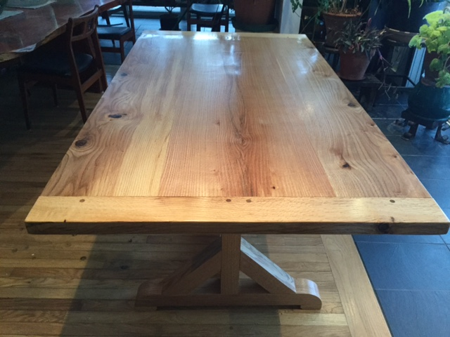 Larry Ricci Oak Trestle Table