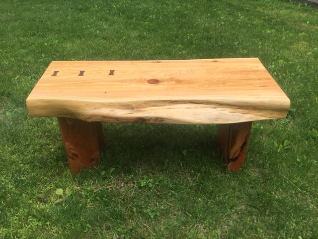 Live Edge Cedar Bench - Larry Ricci
