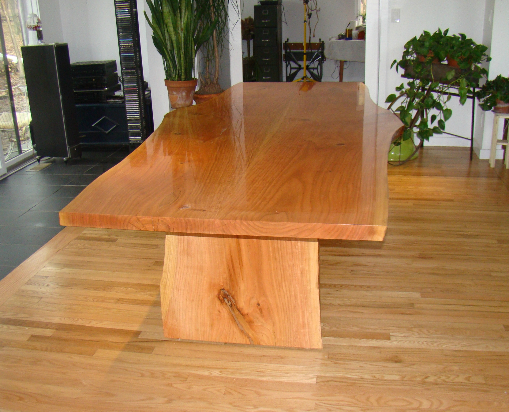 Cherry Dining Room Table by No Walls Studio