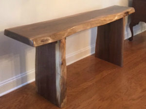 Walnut Hall Table - Larry Ricci