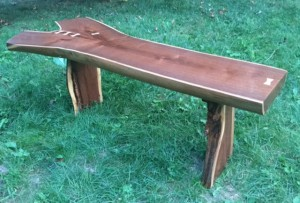Walnut Coffee Table with Maple Butterfly Accents by No Walls Studio
