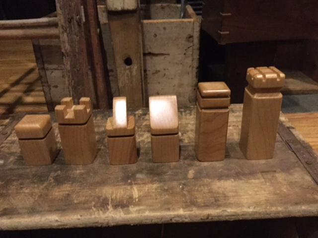No Walls Studio Maple Chess Pieces