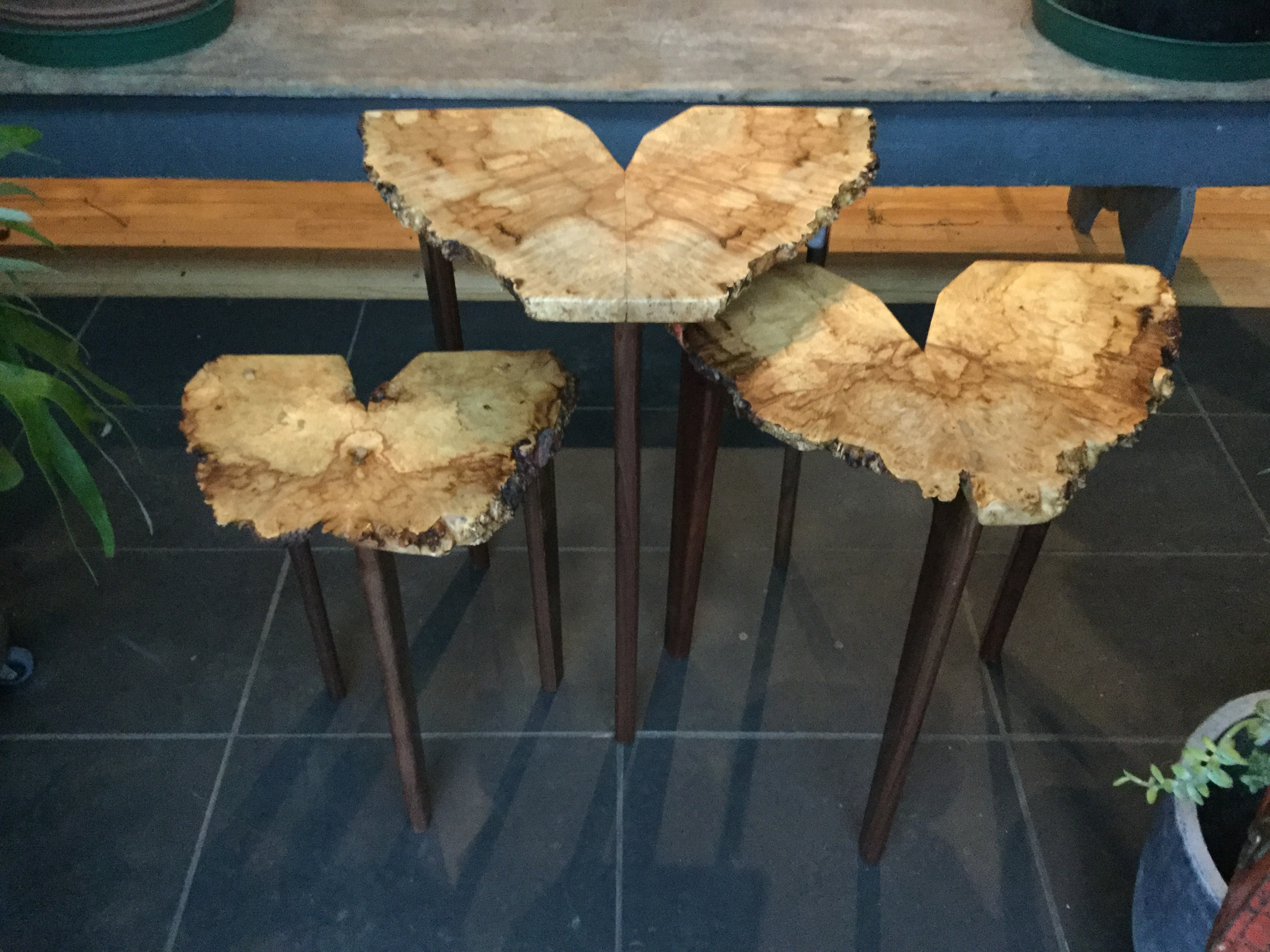 Larry Ricci Maple Nesting Tables