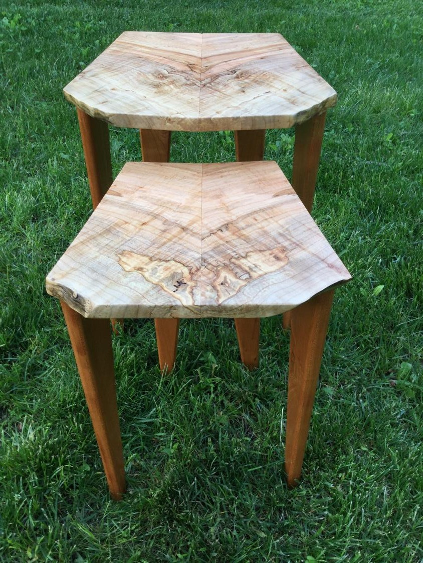 Maple Burl Nesting Table